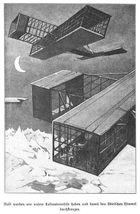 Flugzeuge in Arthur Brehmer, 'Die Welt in 100 Jahren' (1910)