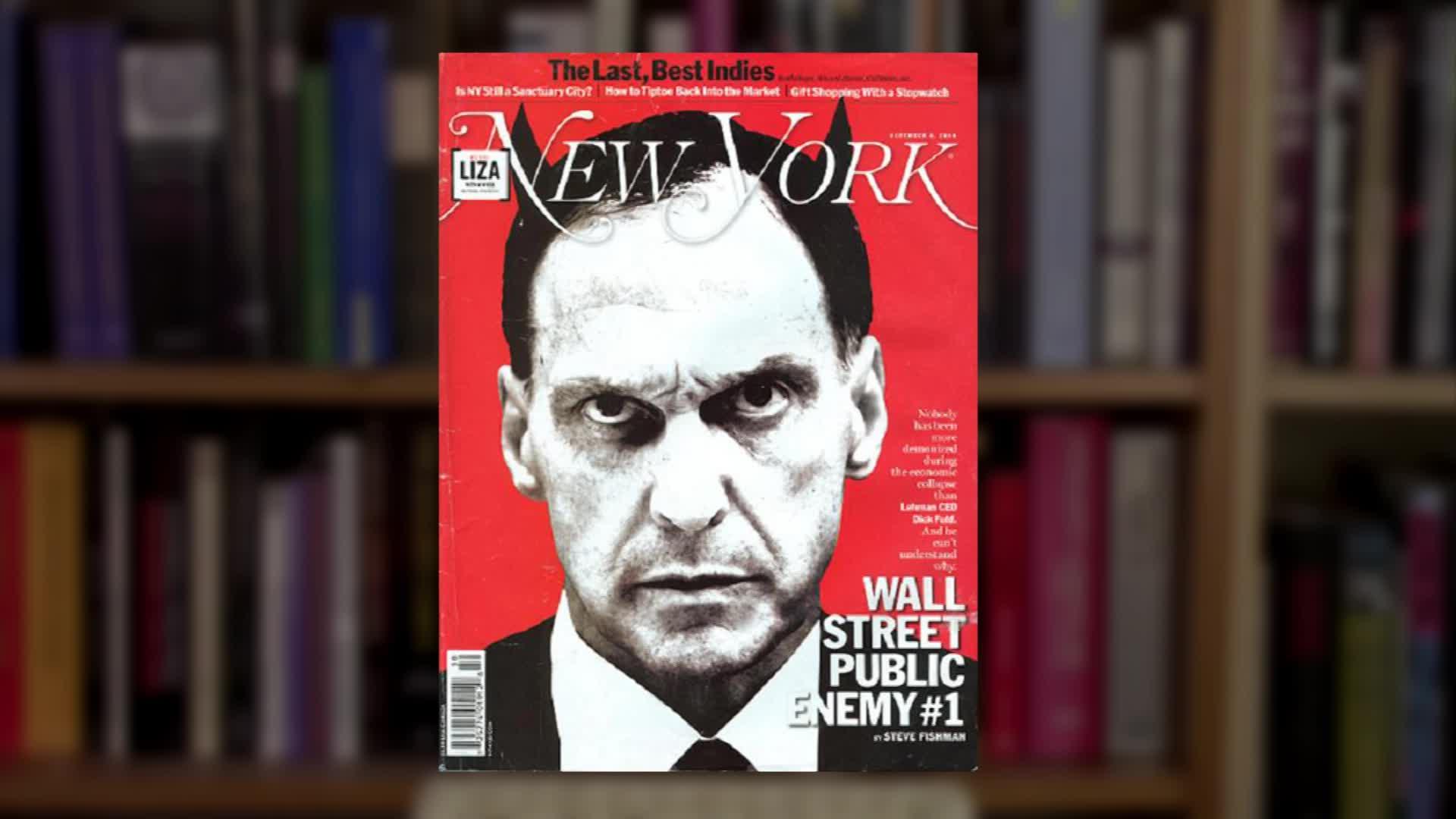 Dick Fuld - Titelseite Zeitschrift New York - Teufelshörner