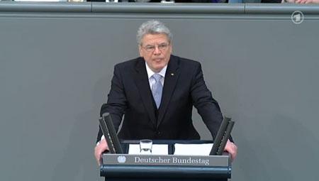 Joachim Gauck, Antrittsrede im Deutschen Bundestag, 23. März 2012