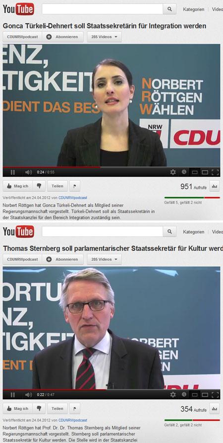 Gonca Türkeli-Dehnert und Thomas Sternberg auf der Website von Norbert Röttgen, CDU