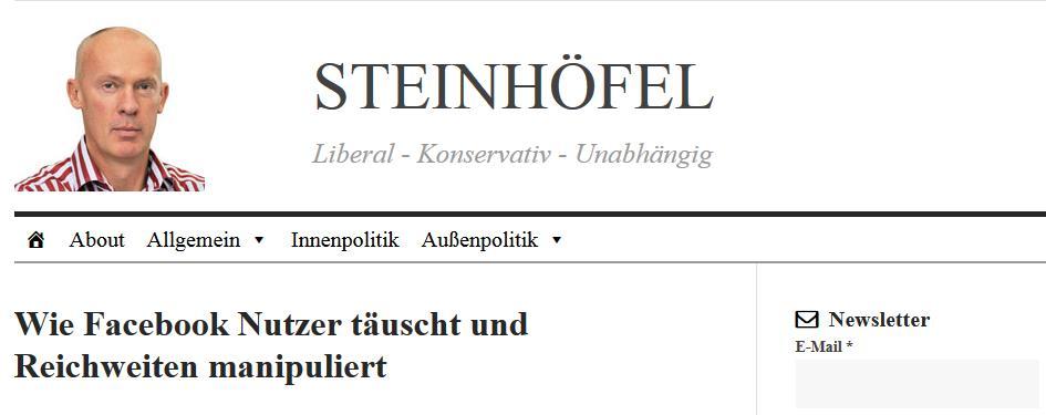 Joachim Steinhöfel Facebook