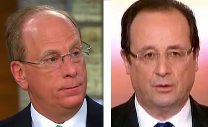 Francois Hollande, Larry Fink und die BlackRock-Investment-Elite