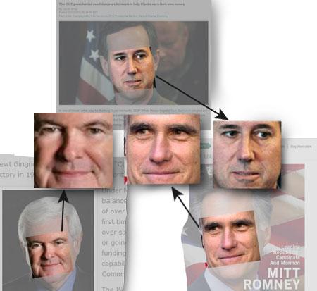 Newt Gingrich, Mitt Romney, Rick Santorum, US-Präsidentschaftswahl