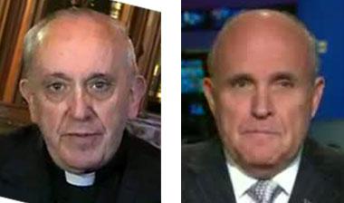 Papst Franziskus I. - Jorge Mario Bergoglio - Rudolph Giuliani