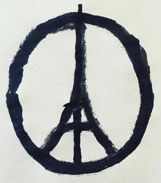 Paris Terroranschläge Peace-Zeichen
